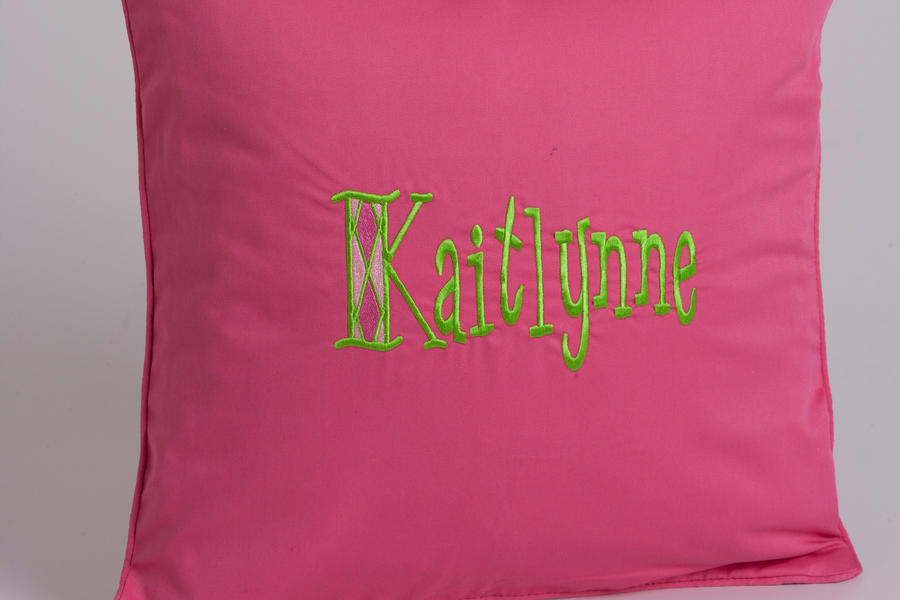 Monogrammed Pillows for a Girl's Room