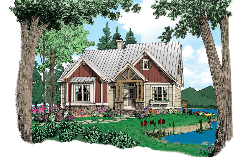 Alleghenyplan 1552 18 small house plans southern living for Southern homes and gardens house plans