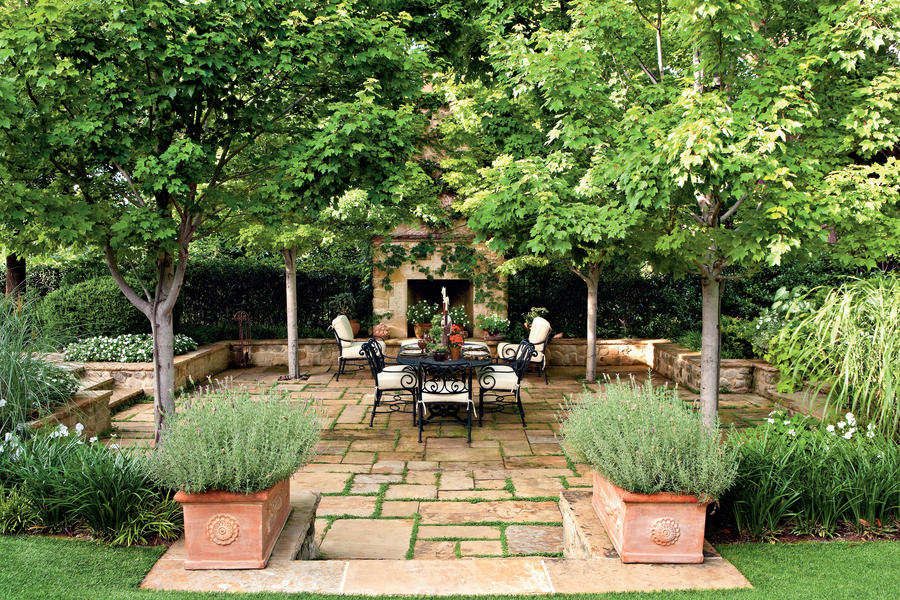 Garden oasis patio porch and patio design inspiration for Southern living landscape design