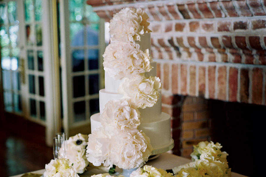 Blush-Colored Wedding Cake