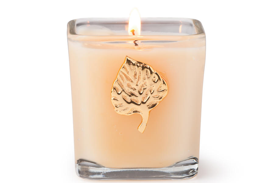 Gold Leaf Candle
