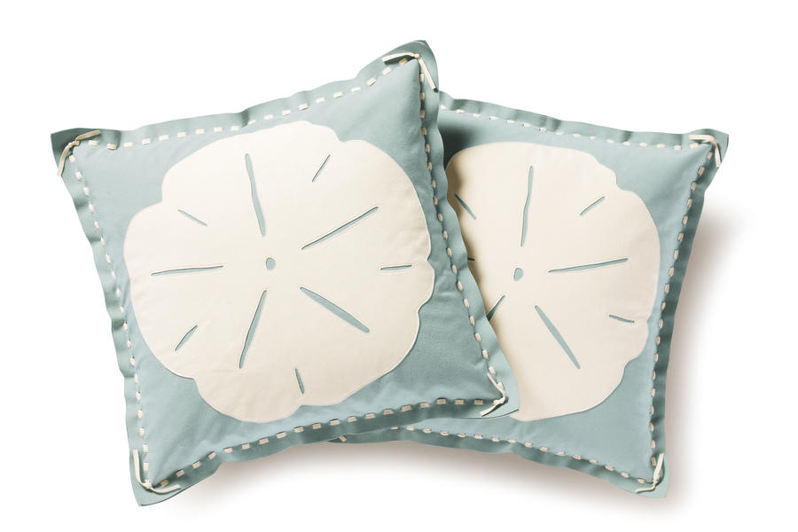 Cabin and Cottage Decorating Accessories: Sand Dollar Pillows