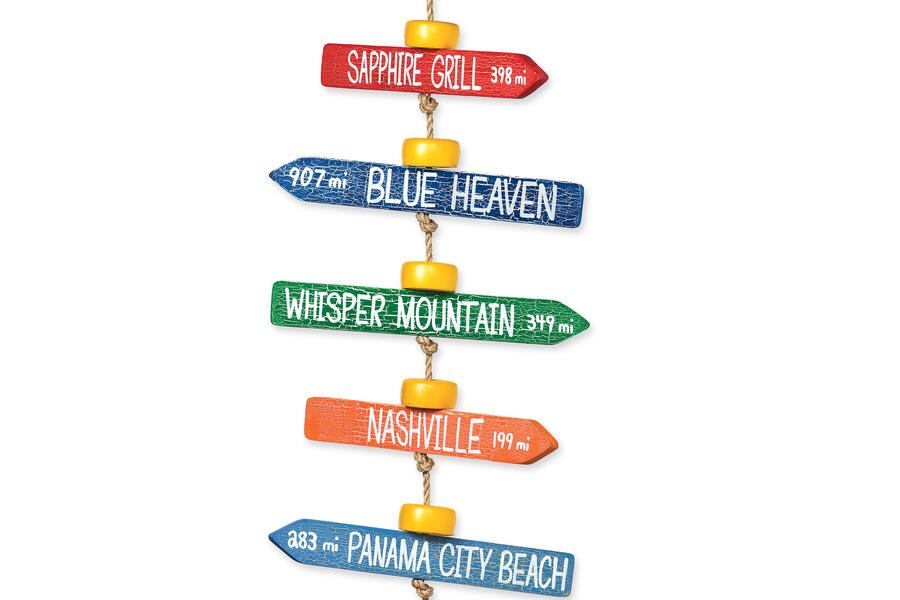 Cabin and Cottage Decorating Accessories: Journey Marker