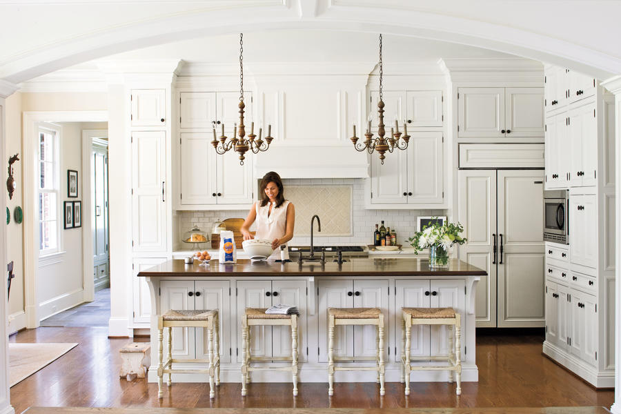 Nature-Inspired White Kitchens