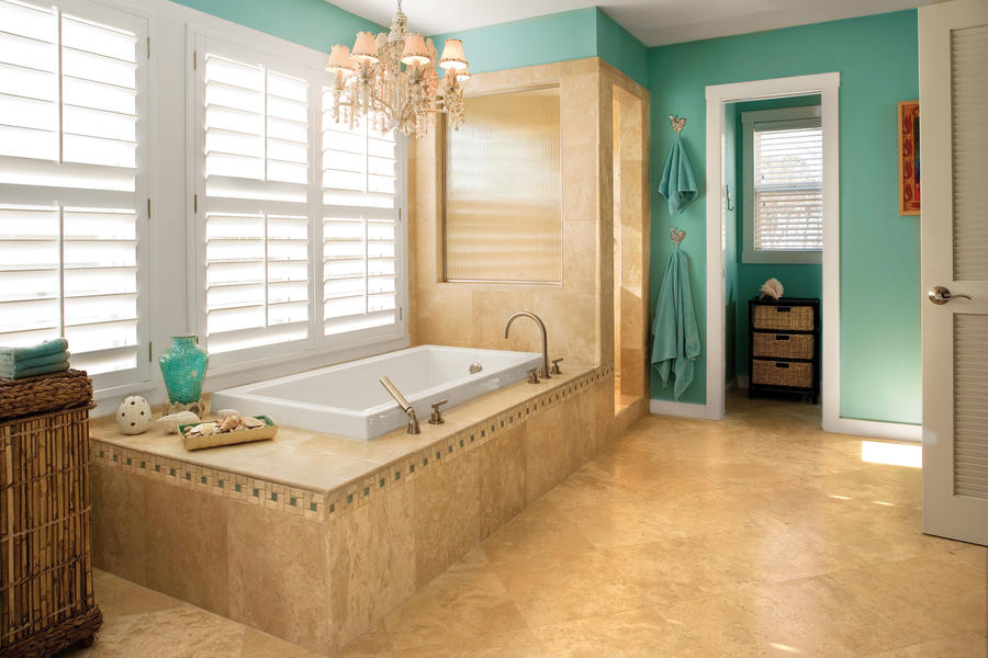 7 beach inspired bathroom decorating ideas southern living for Beach inspired bathroom designs