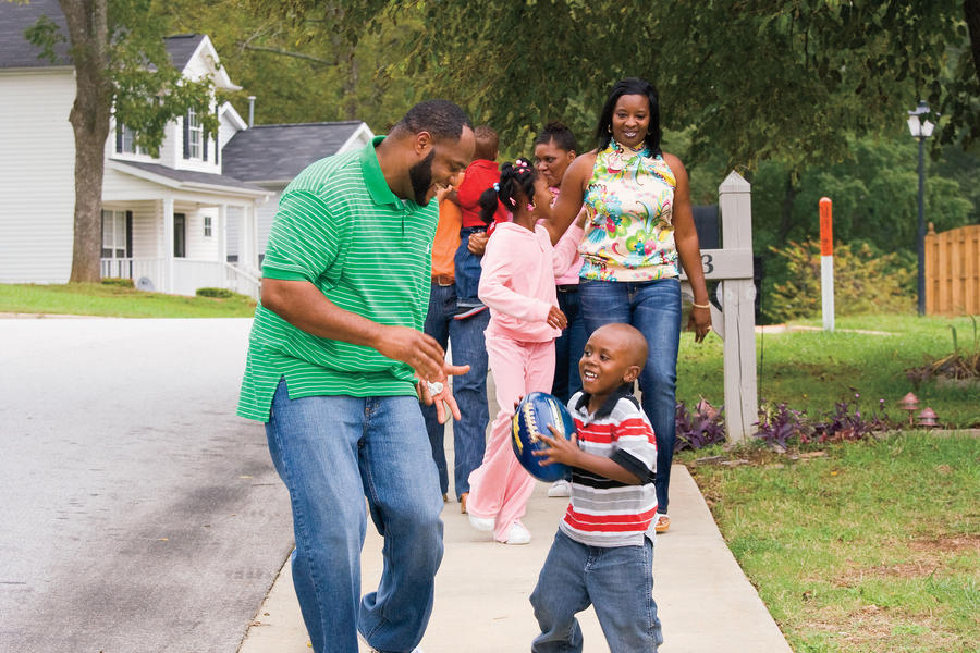 Shawn Coleman and family in Viola neighborhood of Greenville, SC