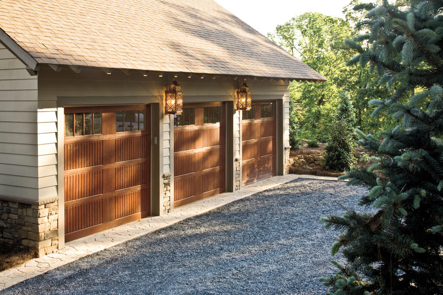 Formal Wood Garage Door