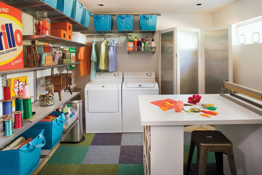 Colorful Laundry Room After