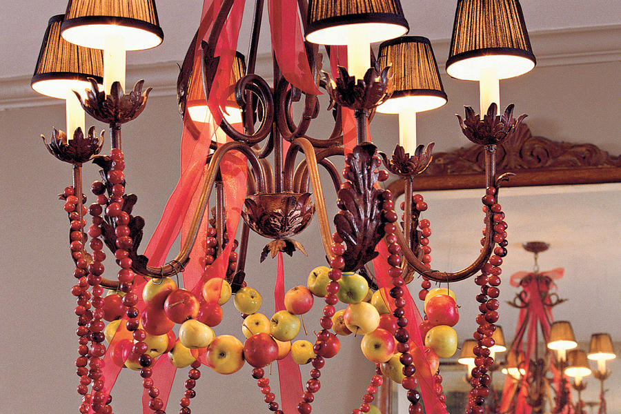 Apple Cranberry Chandelier