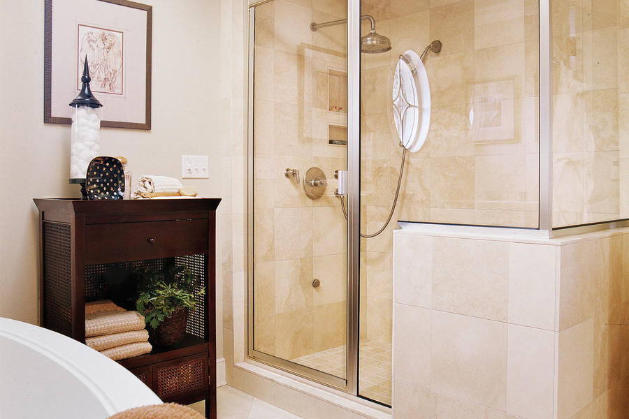 shower after master bath makeover southern living before amp after guest bath heather scott home amp design