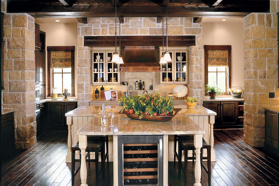 Casual entertaining kitchen