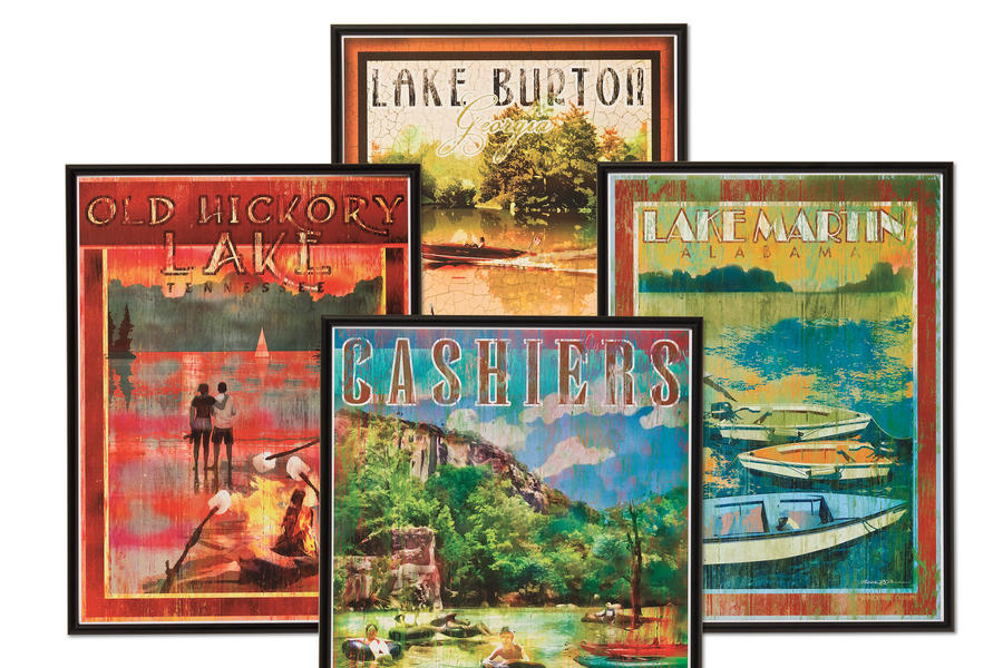 Cabin and Cottage Decorating Accessories: My Town Prints