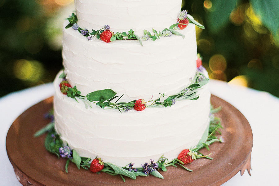 Elderflower Wedding Cake