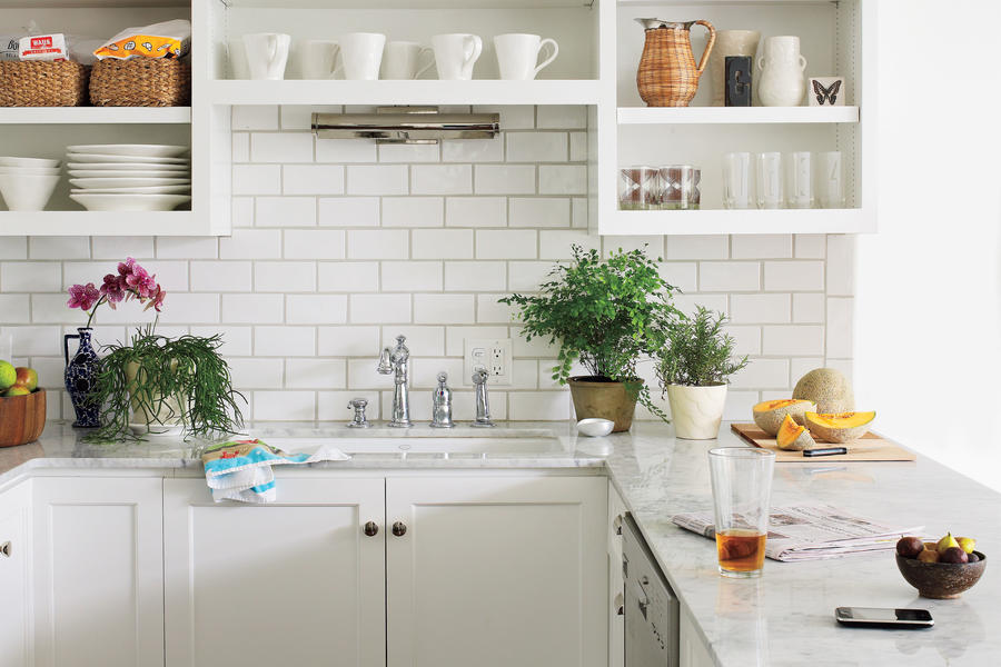 Small Modern White Kitchen
