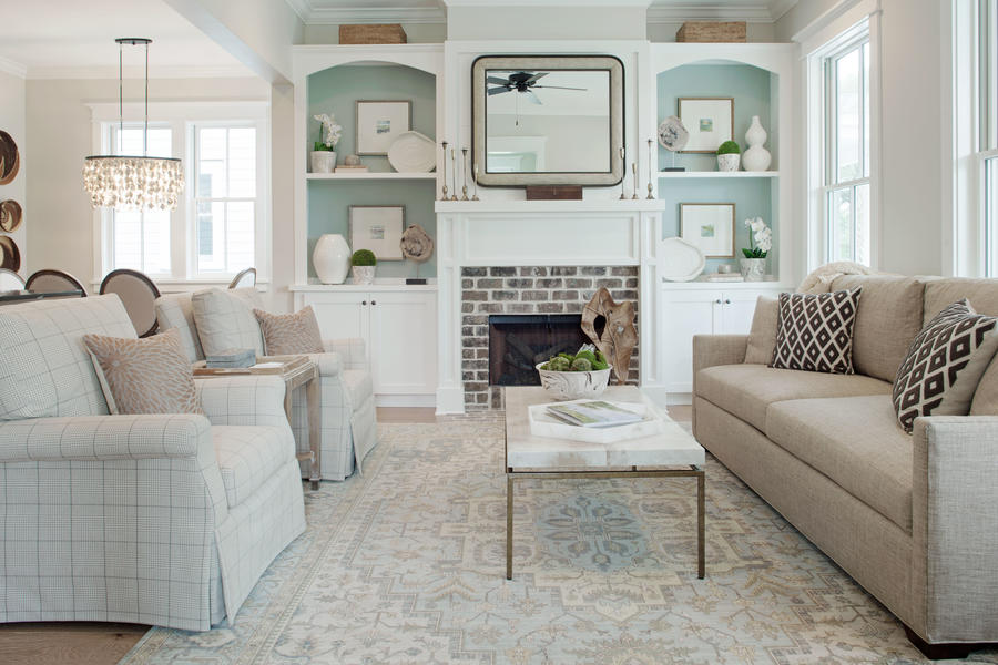 20 Blue Living Room Design Ideas: Southern Living Inspired Home At Habersham