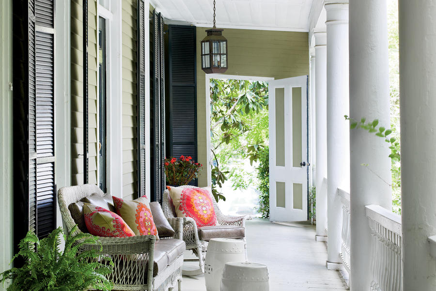 Wicker Front Porch