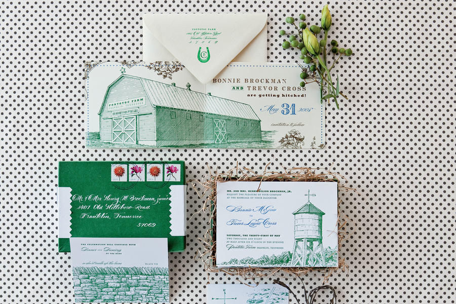 Vintage Illustrated Invitations