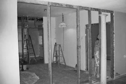 Black and White Dining Room Before