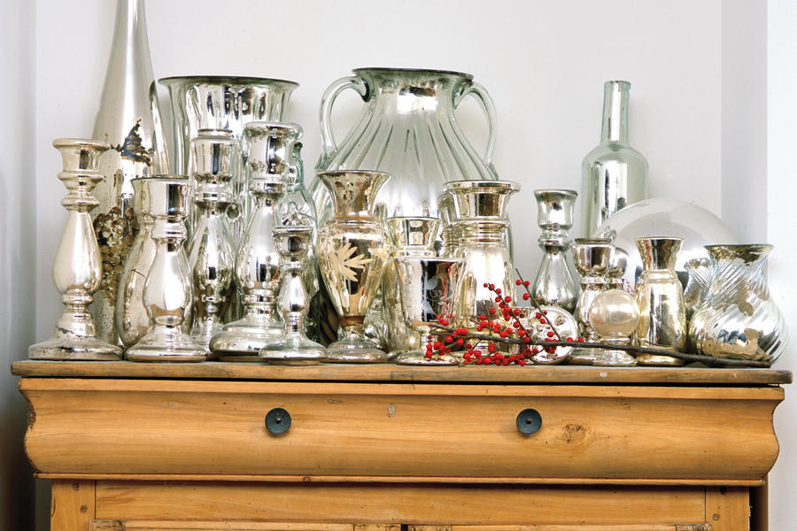 Christmas Decorating Ideas: Mercury Glass