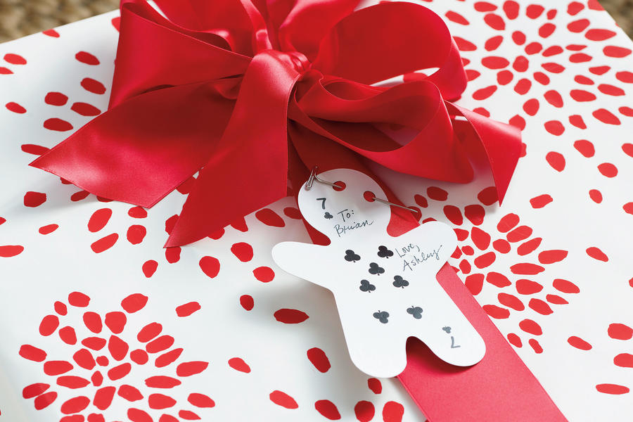 Christmas Decorating Ideas: Card Gift Tag