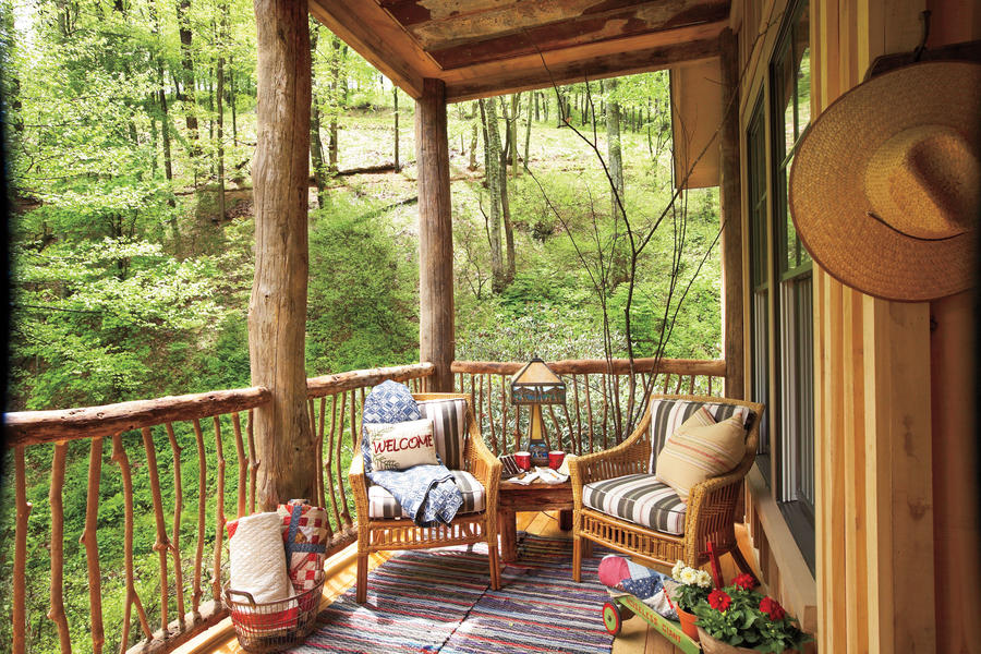 Natural Woodland Porch
