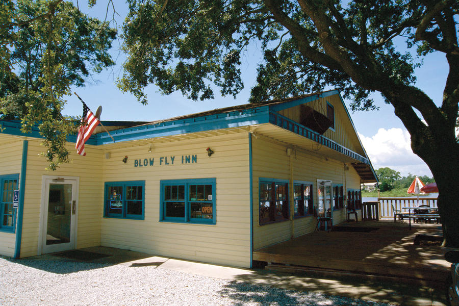 exterior view of blow fly inn, gulfport