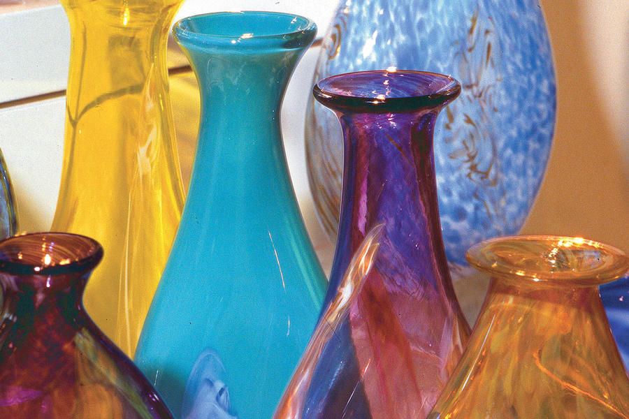 works of glass at glassworks shop