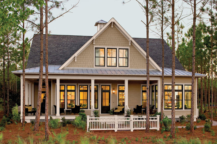Tucker bayou plan 1408 17 house plans with porches for Southern living house