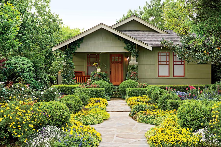 Houston Bungalow Garden Southern Living