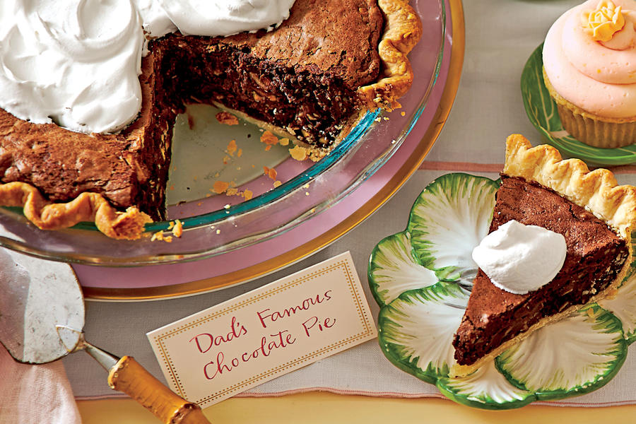 Elegant Easter Potluck Chocolate Truffle Pie with Amaretto Cream