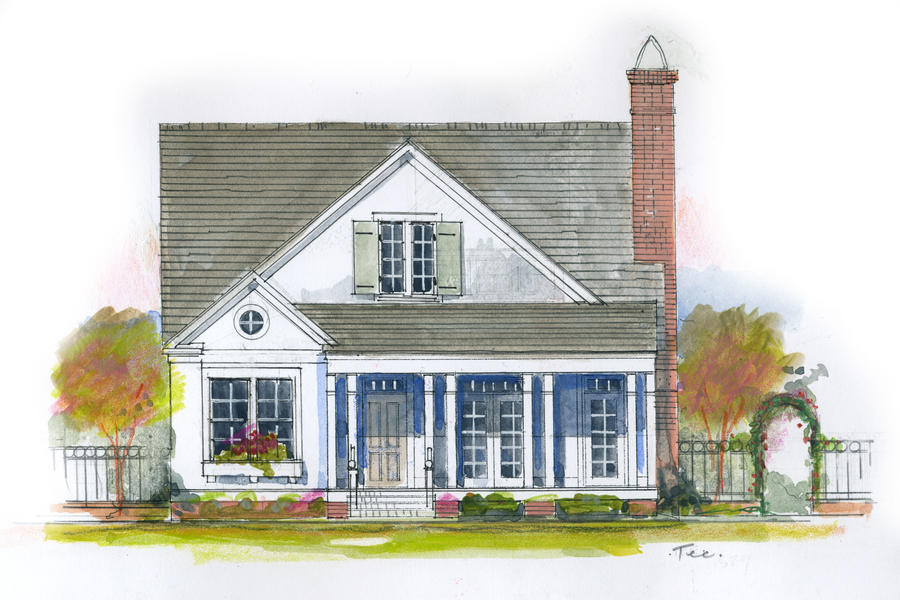 Cherry hillplan 1843 18 small house plans southern living for House plans with guest houses southern living