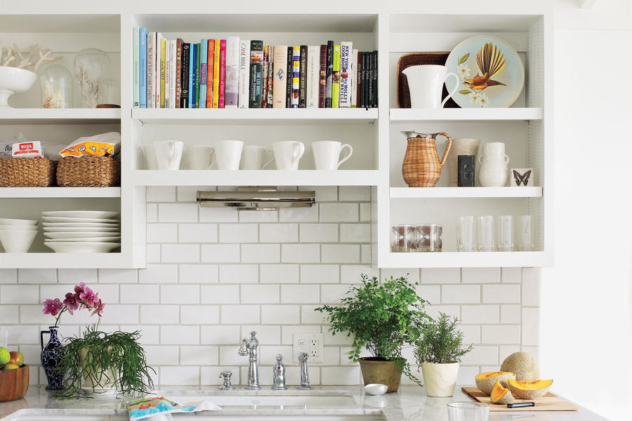 Dream Kitchen Design Ideas: Cookbook Shelf