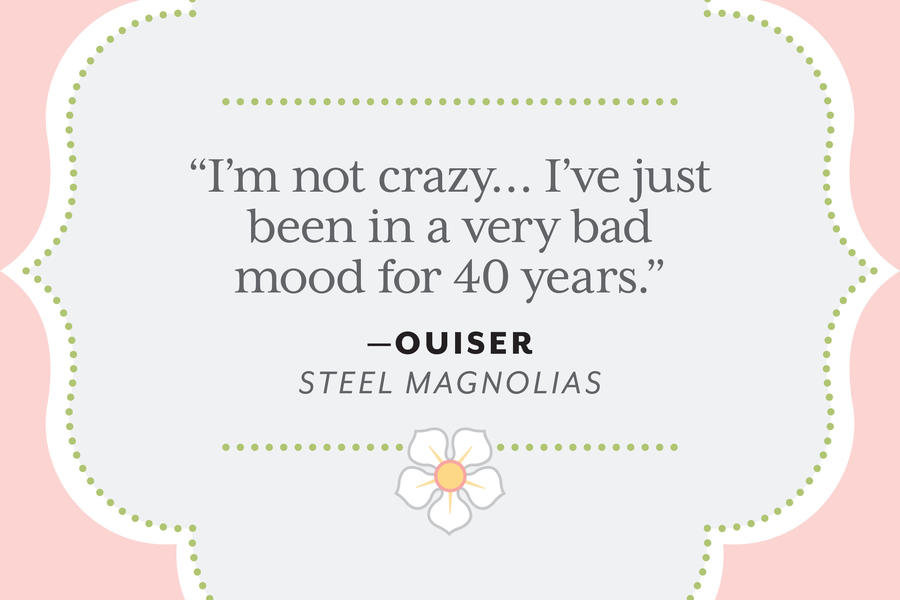 movie character health assessment presentation of steel magnolias Free essay: a nursing assessment will be presented on shelby eatenton   background of steel magnolias and shelby eatenton the film opens on modern- day louisiana and tells the story of a  health perception/health management:  generally in good health with the occasional cold and bouts of fatigue.