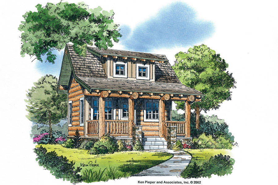 Sun river plan 644 cabins cottages under 1 000 square for River home plans