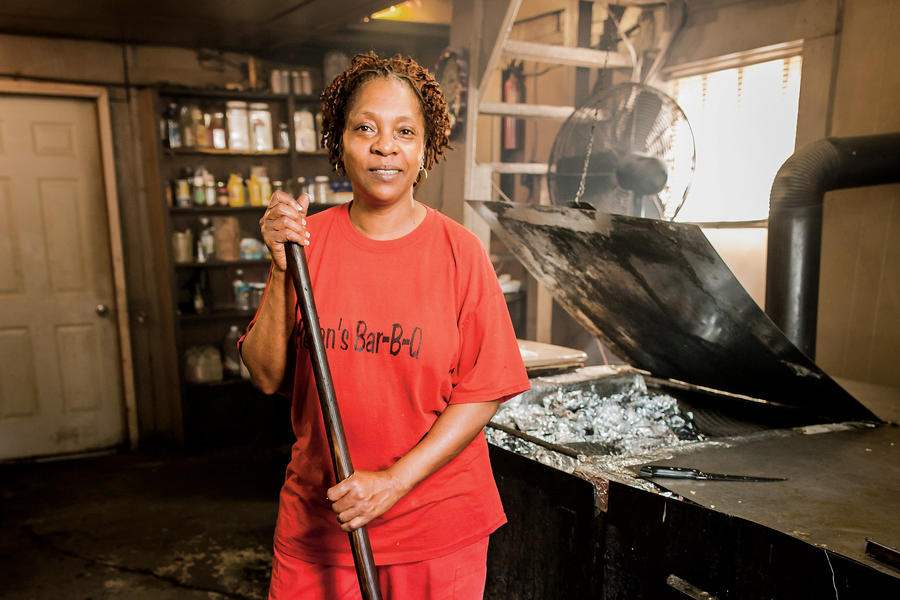 Helen Turner of Helen's BBQ in Brownsville, Tennessee