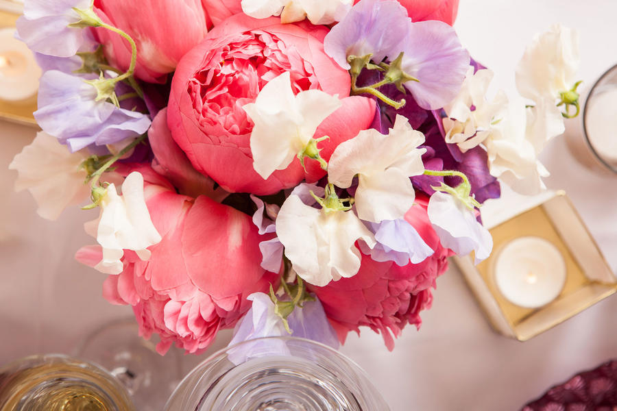 B Floral Easter Centerpiece Peony 2