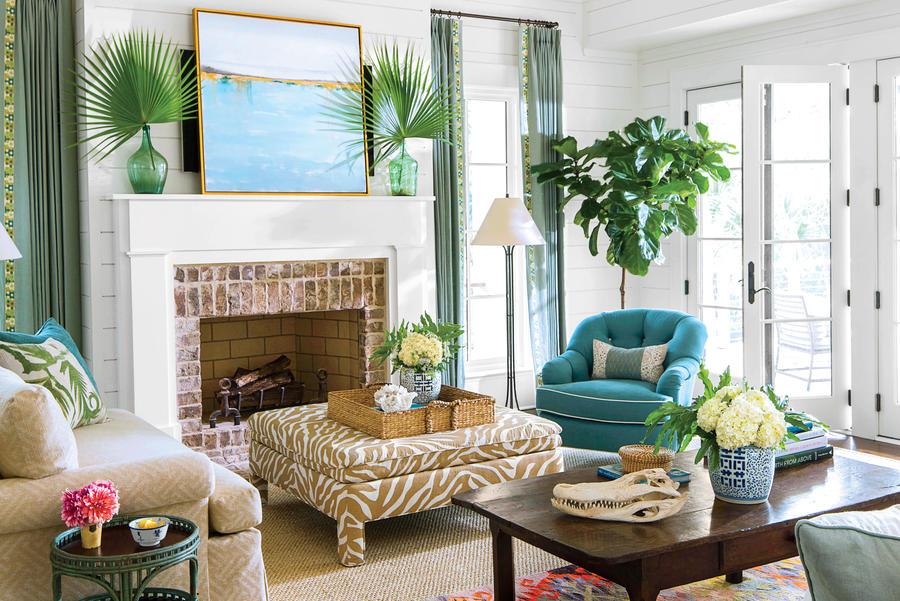 Coastal Lowcountry Living Room. 106 Living Room Decorating Ideas   Southern Living