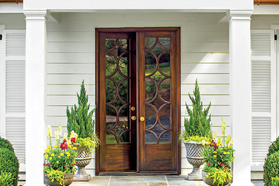 Classic french door entry stylish looks for front entry for French door styles exterior