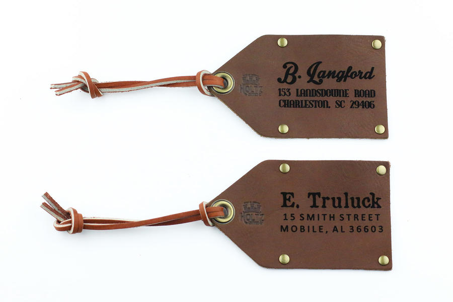Father's Day GG Holtz Leather Travel Tag Image