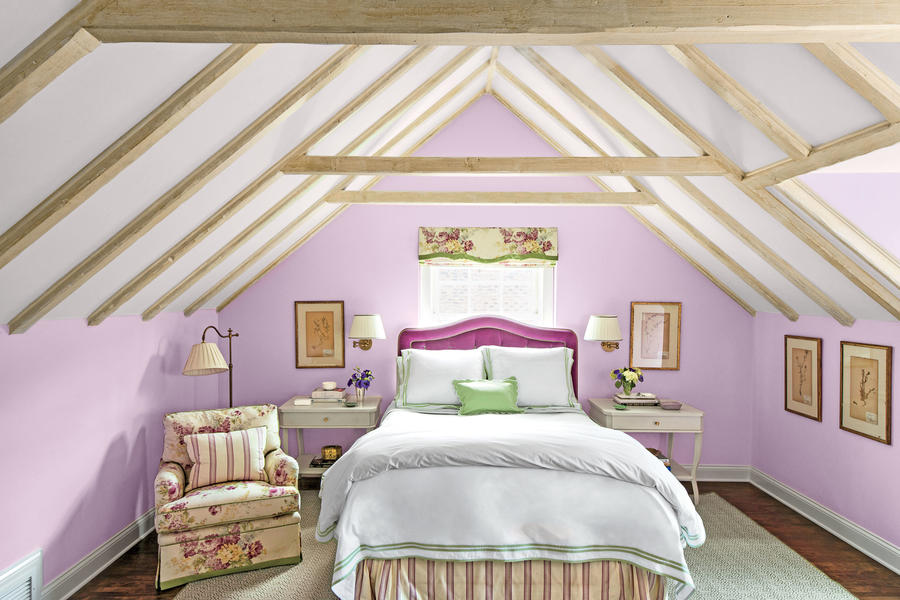 Purpler paint colors southern living for Southern style bedroom