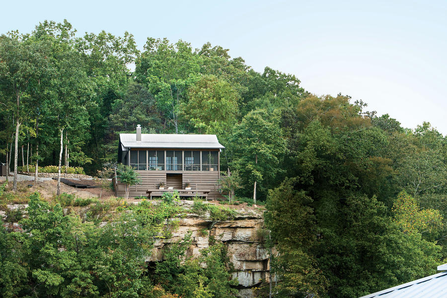 Serene lakefront hideaway southern living for House plans for lakefront property