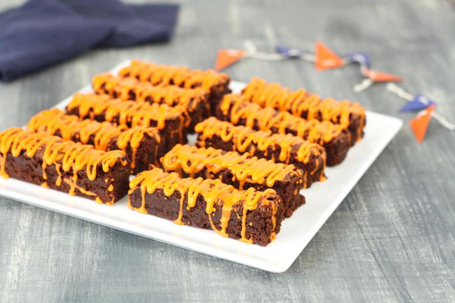 Tiger Stripe Brownies