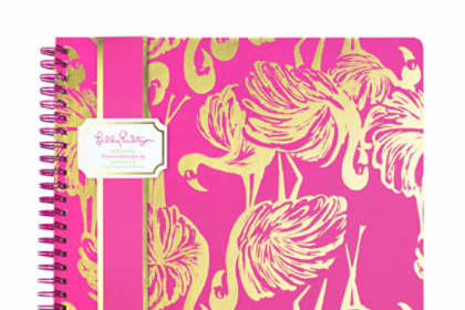 Lily Pulitzer Large Notebook in Magenta Gimme Some Leg