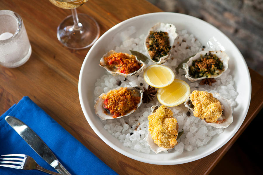 Oysters at PinPoint Restaurant in Wilmington, NC