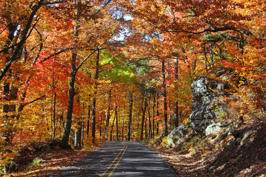 Lookout Mountain Scenic Parkway Fall Color