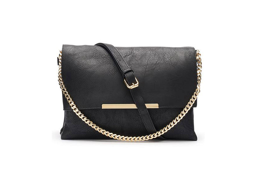 Dolce Girl Curb-Chain Crossbody Clutch