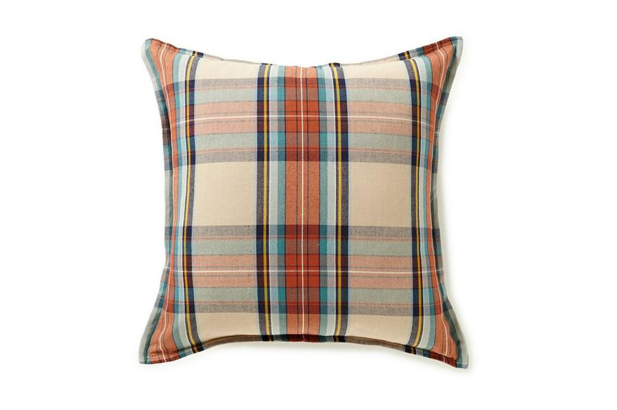 Plaid Square Fall Throw Pillow