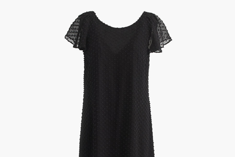 Blak Ruffled Dress