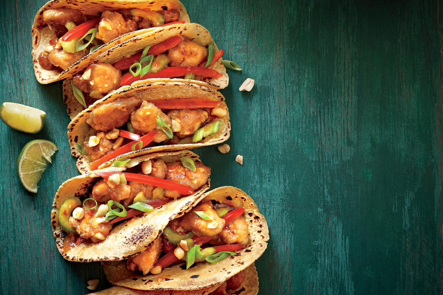 Sesame Chicken Tacos