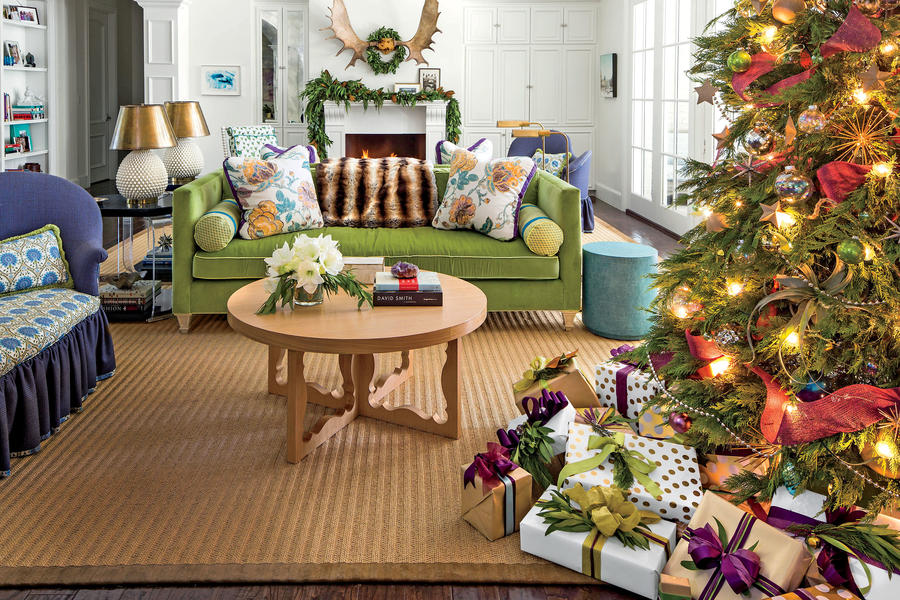 Oversized Living Room Decorated